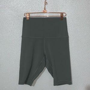 "Lululemon super high waisted align shorts 10"""